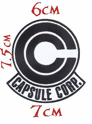 Quality Iron/Sew on Capsule Corp Dragon ball Z patch funny anime Costume manga