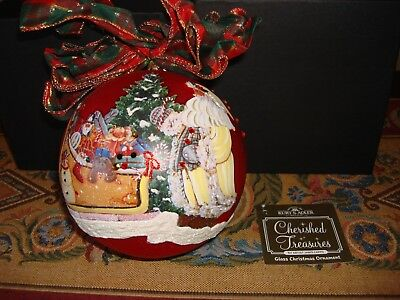 Kurt Adler Father Christmas Glass Hand Painted Red Ornament Janis Capps NEW