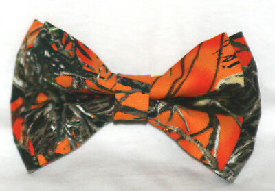ORANGE CAMOFLAUGE  Boys' BOW TIE @@~FREE SHIPPING~@@ Made in the USA Camo