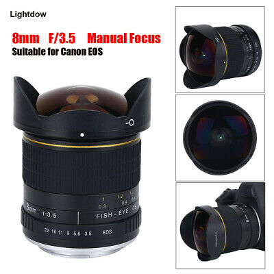 8mm F/3.5 Wide Angle Macro Aspherical Fisheye lens for Canon EOS DSLR CamerasSG