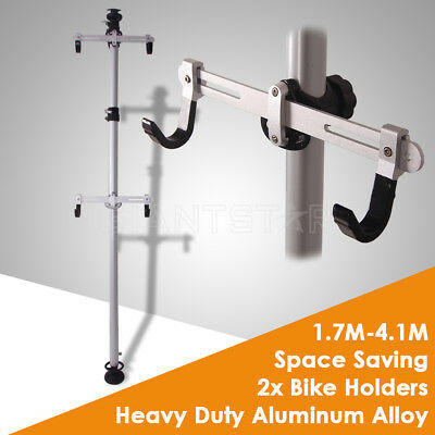 2 Bicycle Parking Rack Bike Storage Heavy Duty Aluminum Alloy Stand Up To 4.1M