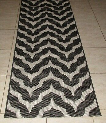 New Black Modern Turkish Floor Hallway Runner Rug 80X150Cm