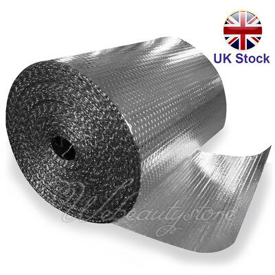 Double Aluminum Bubble Insulation Foil Loft 1BD/A Wall Floor Caravan UK Stock