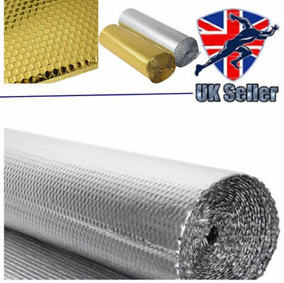 Double Insulation Foil Single Layer Air Bubble Gold Aluminum Roll 1.2x 10/25/40m