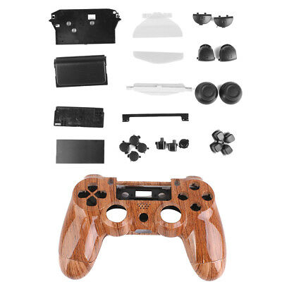 Replacement Parts Spare parts Buttons Case for PS4 Controller Grain of Wood F9B6