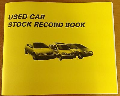 Used Car Stock Record Book For Car Sales