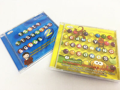 Early Learning Songs 2 CD set.   nursery rhymes, letters, action, numbers *NEW*