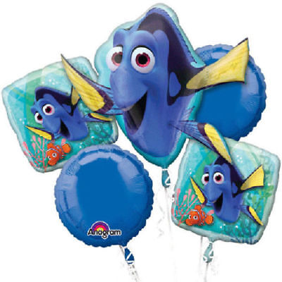 Birthday Shape Foil Balloon Bouquet Disney Finding Dory 5 balloons party