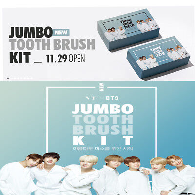 VT X BTS Think your teeth Jumbo kit set[Black + White] LIMITED  / Free shipping