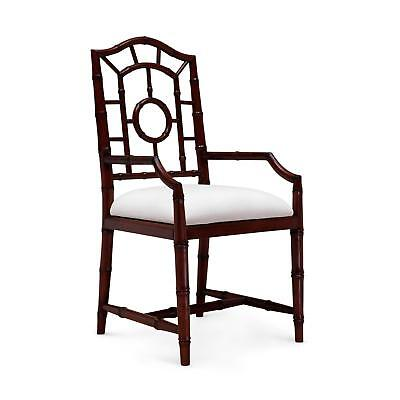 Bungalow 5 Chloe Traditional Walnut Lacquered Mahogany Armchair Set of 2