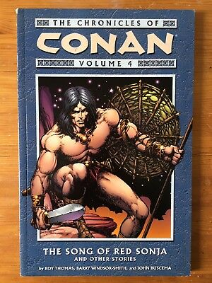 The Chronicles of Conan - Volume 4 - The Song of Red Sonja - Dark Horse 1st Ed
