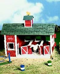 Stablemates Red Barn Stable Set - Collectible Horses by Breyer (59197)