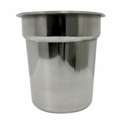 LOT OF 6 PANS - Update 2.5qt Stainless Steel Inset Pan For Steam Table - IS-25
