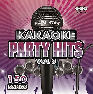 Vocal-Star Party Hits 8 Karaoke Cdg Cd+G Disc Set 150 Songs