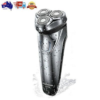 Mens Electric Shaver Razor+3D Floating Heads+IPX7 Waterproof Rechargeable+ABS
