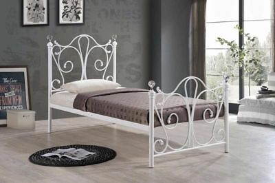 3FT SINGLE SHERRY White BED  Available In White And Black