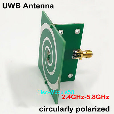 2.4GHz-5.8GHz Wideband UWB Helical Antenna 5w for GPS Positioning / WiFi ANT