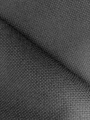 Zweigart  Black 18 count Aida fabric 50 x 55 cm Fat Quarter