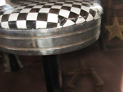 Vintage Cast Iron Soda Fountain Stool Steampunk Industrial Antique Bar Spin