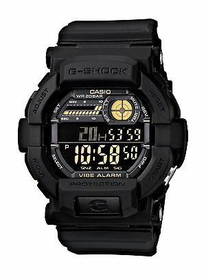 Casio G-Shock Men's GD350-1B World Time Alarm Digital Black Resin 49mm Watch