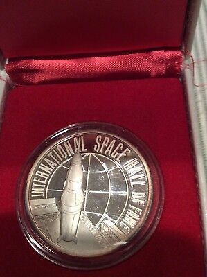 SILVER MEDAL 1976 International Space Hall of Fame Alamogordo NM  .999 Pure