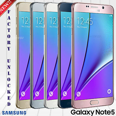 "Samsung Galaxy Note 5 N920P Sprint Gsm Unlocked Phone 32Gb 16Mp 5.7"" Hd New"