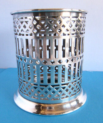 "BERNARD RICE'S SONS APOLLO Silverplate BOTTLE HOLDER 2.75"" interior width EXC"