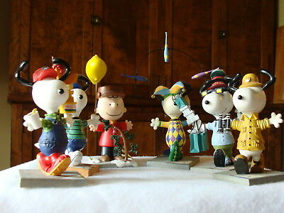 Collection of Six (6) Westlund Snoopy & Charlie Brown Figurines Plus More