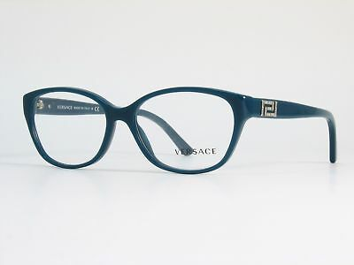 4114a9db9d1 Authentic Versace Eyeglasses VE3189B 5058 Teal Crystal Frames 52MM Rx-ABLE