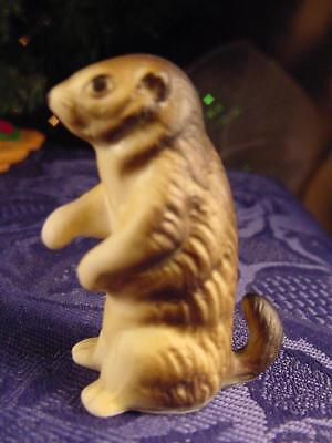 MINIATURE vintage porcelain PRARIE DOG figurine great for LAYOUT Display 5 photo