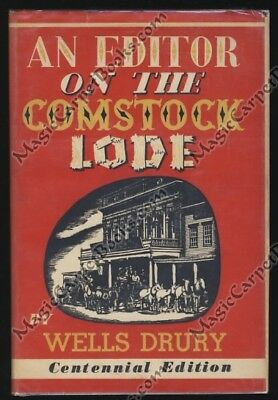 AN EDITOR ON THE COMSTOCK LODE Nevada History VIRGINIA CITY Newspaper Biz MINING