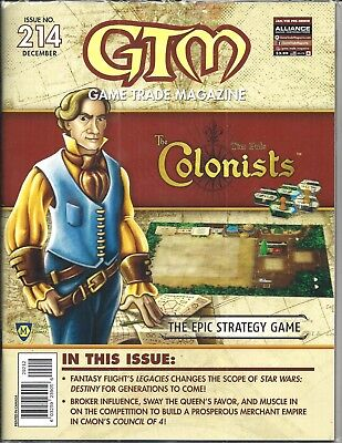 Game Trade Magazine #214 (COLONISTS, Epic Strategy Game, Sealed DEC 2017) NM NEW