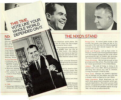 Official 1968 Richard Nixon THIS TIME Campaign Brochure (3898)