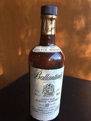 30 Year Ballantine's Old Very Old Scotch Whiskey Bottle