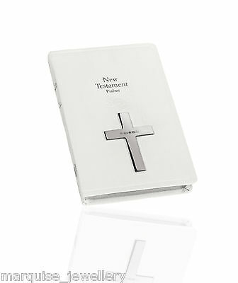 925 Sterling Silver Hallmark Cross New Testament Bible Christening Gifts.