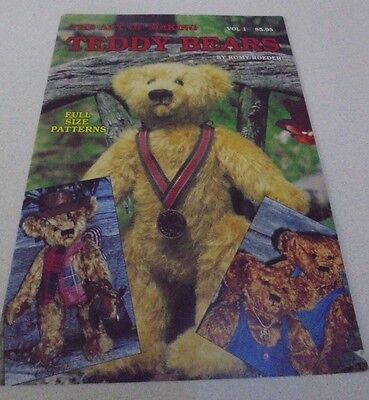 Vol 1 The Art of Making Teddy Bears By Romy Roeder 7pjts Full size patterns