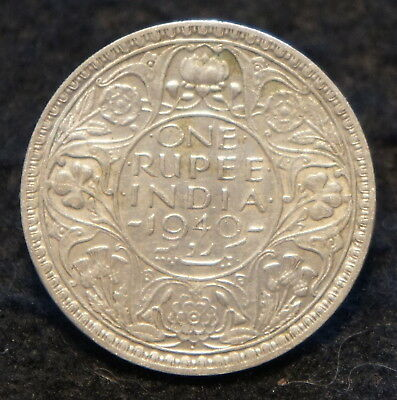 1940 India Rupee in EF Condition 50% SILVER  Very NICE Collectible!