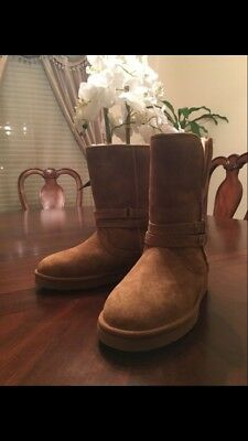 65b38ae1a32 UGG AUSTRALIA WOMEN'S Palisade Suede Chestnut Boots Size 5