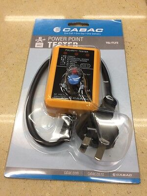 P0WER POINT AND LEAKAGE TESTER- Plug in- CABAC TEL1TLV2