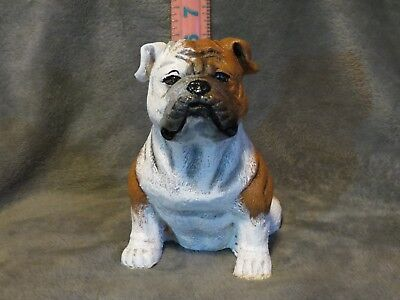 English Bulldog Plaster Dog Statue Hand Cast And Painted By T.c. Schoch
