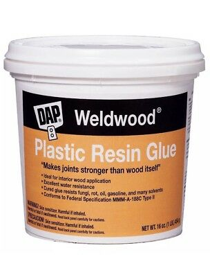 Dap 00203 Weldwood Plastic Resin Glue, 1-Pound, New, Free Shipping