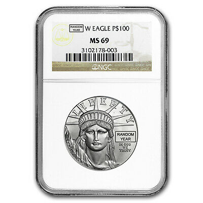 1 oz Platinum American Eagle MS-69 NGC (Random Year) - SKU #150219