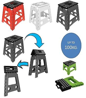 Large Folding Stool Step Multi Purpose Kitchen Home Diy Heavy Duty Plastic Uk St