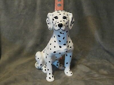 Dalmation Plaster Dog Statue Hand Cast And Painted By T.c. Schoch