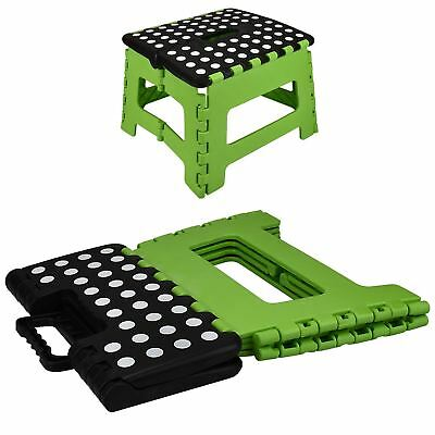 Green Medium Folding Stool Step Multi Purpose Kitchen Home Di Heavy Duty Plastic