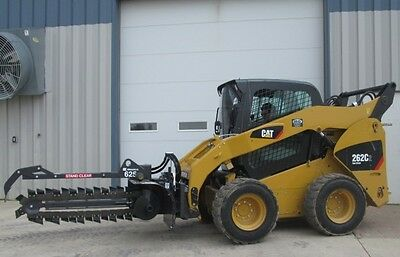 """Bradco 625 Skid Steer Loader Trencher Attachment 48"""" x 6"""" Dirt Chain 14- 22 GPM"""