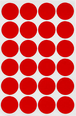 """Red Color Stickers 25mm Coding Labels Marking Organizing 1"""" Inch Dots 120 Pack"""