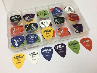 100pcs Bass Acoustic Electric Guitar Picks Plectrum Multiple Colors  Thickness
