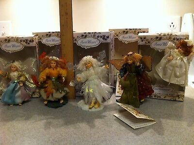 Faerie Whispers Collectibles by Boyds Collection Fairy Angels -All 5 for 1 Price