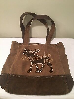 Abercrombie & Fitch Tote Bag Brown Moose Corduroy